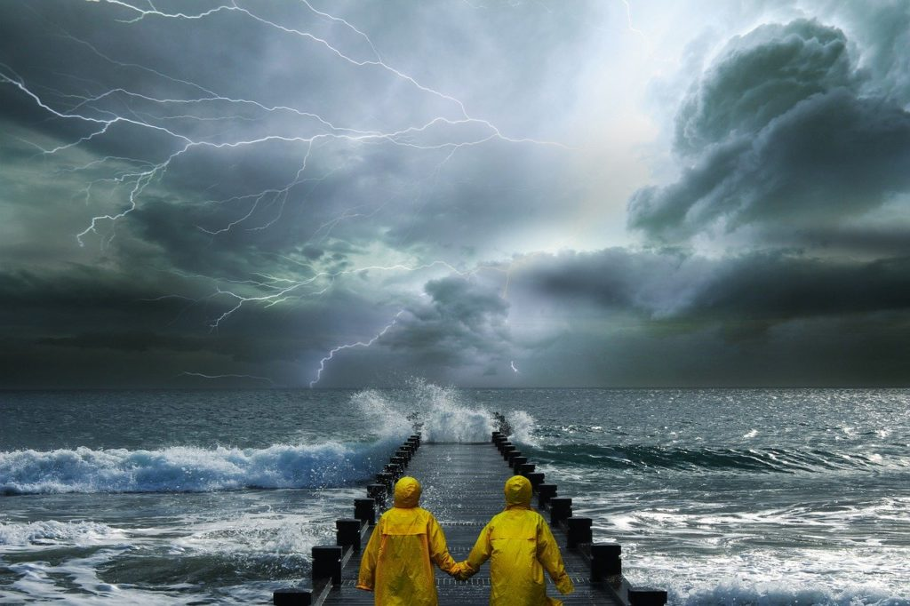 landscape, fantasy, storm